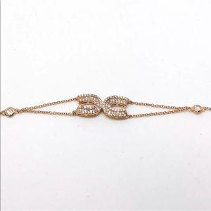 Jewelry - 14k Rose Gold on 925 Silver Link Bracelet